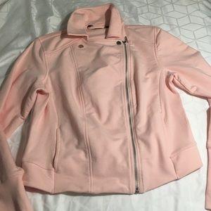 H by Halston 8 zipper jacket turn up sleeve